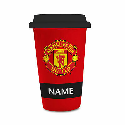 Personalised Manchester United FC Eat Sleep Drink Reusable Cup