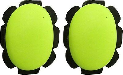 Knee Sliders Yellow with suede & velcro backing