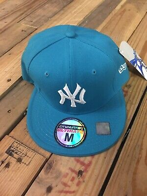 NWT New York NY Yankees Turquoise Blue Hat Cap City Hunter Ultimate Fitted Sz  M