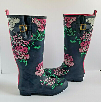Joules WELLY PRINT Girls Rain Snow Rubber Wellies Cambridge Anniversary Floral