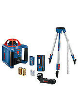 Bosch GRL1000-20HVK Self-Leveling Rotary Laser Kit With Case NEW