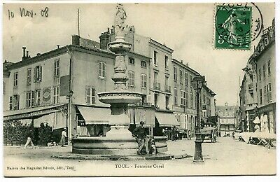 CPA - Carte Postale - France - Toul - Fontaine Curel - 1908 (I9958)
