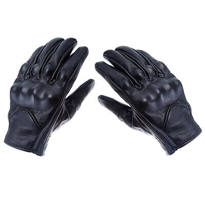 One Pair Leather Gloves Thicken Touch Screen Warm Outdoor Gloves for Workout