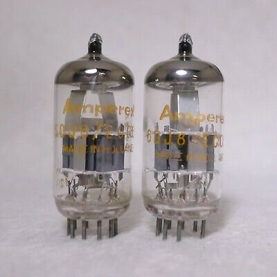 2 x 6DJ8//E88CC Amperex Tubes*Very Strong Matched Pair*Holland* 2 pair available