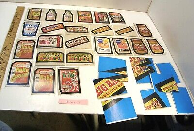 LOT 1973-4 TOPPS WACKY PACKAGES 24 STICKERS 5th SERIES  tan backs & PUZZLE PCS