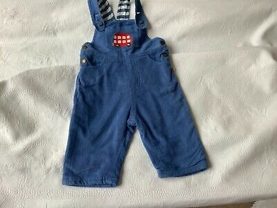 Boy/girl Frugi lined dungarees.Cord and stripe inside .3-6 months