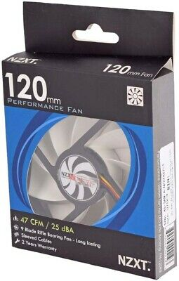 Brand New Nzxt Fn 120rb 120mm Case Cooler Fan Rifle Bearing A1225l12s 17 50 Picclick