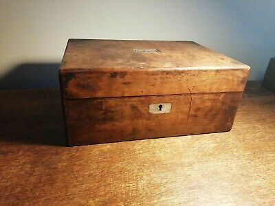 old Wood  box with a key