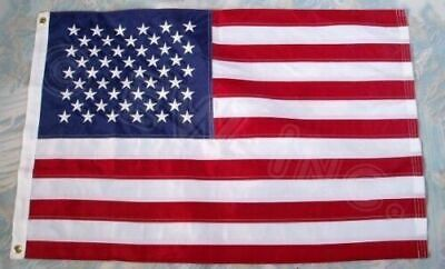 3x5 Ft Nylon American USA US Flag Sewn Stripes EMBROIDERED Stars Brass Grommets.