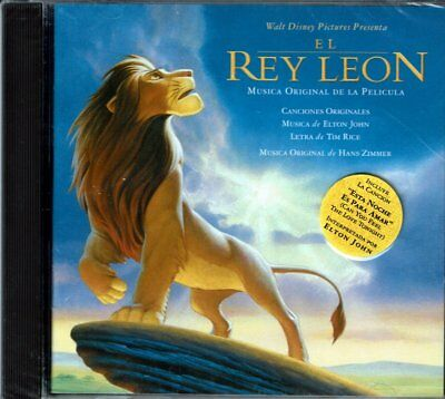 El Rey Leon  Musica Original de la Pelicula   BRAND NEW SEALED CD