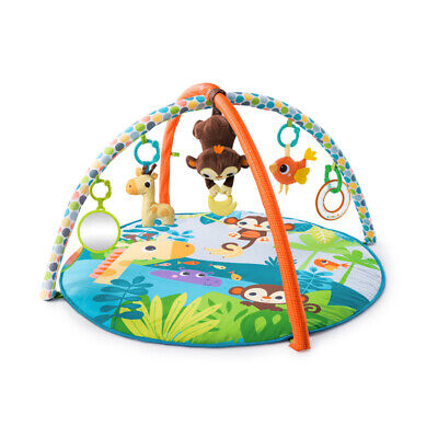 Bright Starts Monkey Business Musical Activity Gym, Baby Play Mat