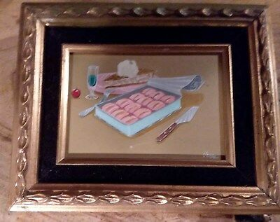 "PRICE DROP !! FRAMED SUSHI & ""PIE"" KENNY VARES Modernist/erotica !!"