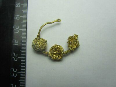 Ancient gold. Ancient gold earrings Byzantine gold (10-12 century)100% original