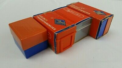 4 Vintage Agfacolor 35mm Slide Boxes and Slides 70s holiday snaps.
