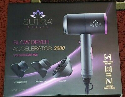 Sutra Accelerator 2000 Professional Blow Dryer 35% Faster Dry Time Lightweight