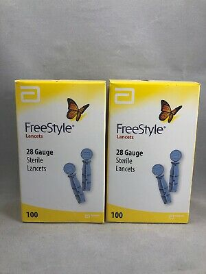 Freestyle - 200 Lancets 28 Gauge 2 Boxes of 100  Exp. 2023