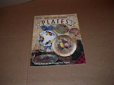 """""""Decoupage Plates"""" Book by Plaid    Quick and Easy    32 Projects   New  1995"""