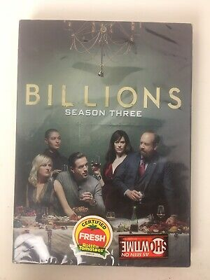 Billions Complete Third Season 3 (4 Dvd Disc Set) Sealed *New*