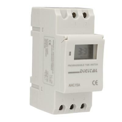 Digital LCD DIN Programmable Weekly Rail Timer AC 220V 16A Time Relay Switch FT