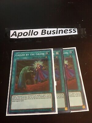 Yugioh Called By The Grave EXFO-ENSE2 Super Rare Nm Playset 3X X3