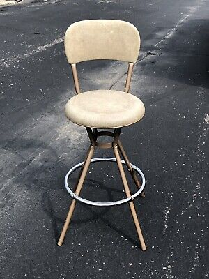 Sensational Vintage Mid Century Modern Cosco Swivel Bar Stool Chair With Dailytribune Chair Design For Home Dailytribuneorg