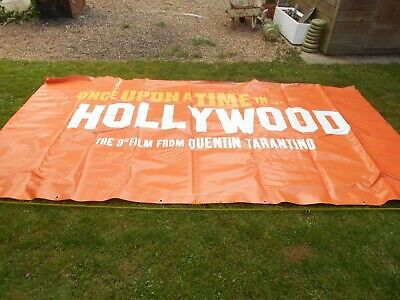 Once Upon a Time In Hollywood, Movie premier banner, PVC Tarantino,Pitt, Leo ,