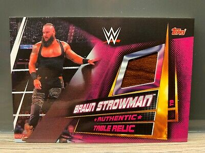 WWE Slam Attax Universe Braun Strowman Table Relic Card Topps Mat Relic
