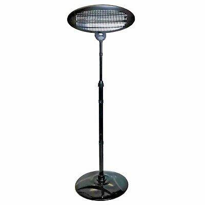 Electric Patio Heater Free Standing Outdoor Adjustable Height Garden Heaters
