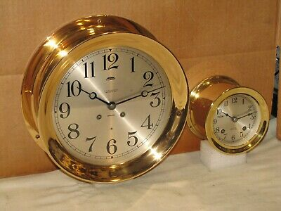 Chelsea Antique Ships Bell Clock~8 1/2 In. Dial~1917~Hinged~Red Brass~Restored
