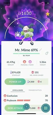 Shiny Mr. Mime Pokemon Go