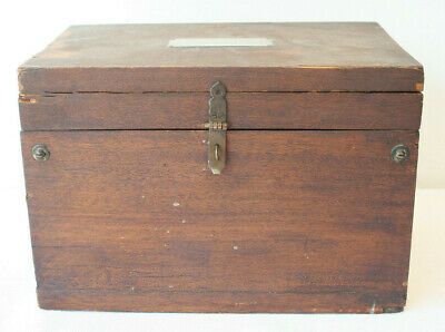 "Antique 1900 Mahogany Humidor Zinc Lined Box 13""x9""x8"" Project Union Made"