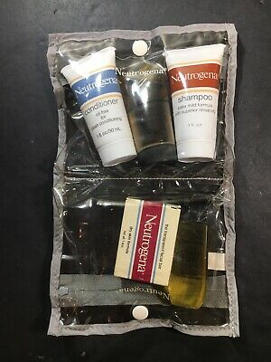 Vintage 1980's Neutrogena Travel Kit Accessory Pack 5 Pieces