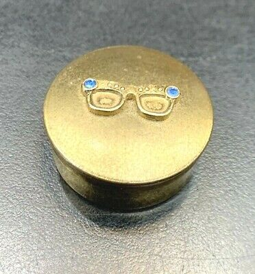 Collectable Vintage Round Pill Box / Snuff Box Brass??