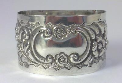 Antique Victorian hallmarked Sterling Silver Napkin Ring (not inscribed) – 1905
