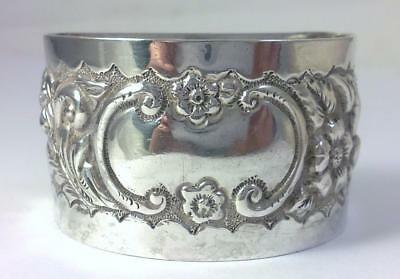 Antique Victorian hallmarked Sterling Silver Napkin Ring (not inscribed) – 1900
