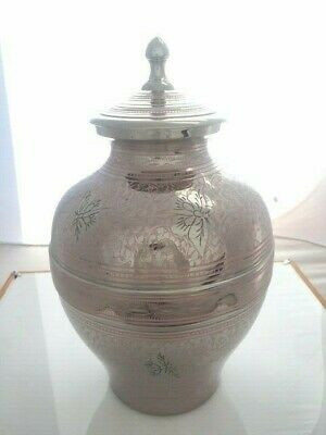 NEW Butterflies Solid Brass Cremation Urn - Adult (Imperfect) E7