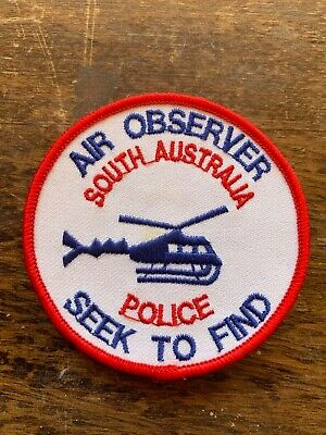 South Australia Police Helicopter Air Observer Patch SAPOL Australian Police