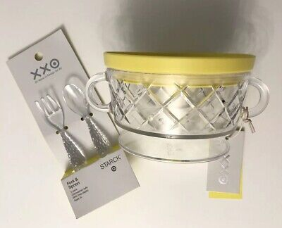 Philippe Starck Target XX Anniversary Child's Bowl with Lid Fork & Spoon Set NWT