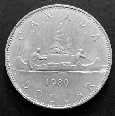 1980 - Canadian 1$ One Dollar Nickel Coin Canada