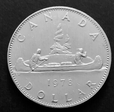 1978 - Canadian 1$ One Dollar Nickel Coin Canada