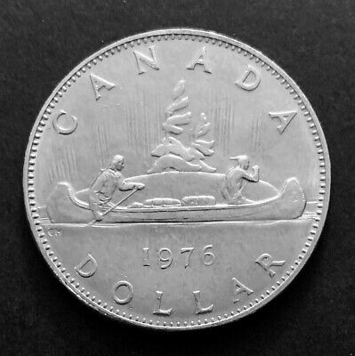 1976 - Canadian One Dollar Nickel Coin Canada 1$