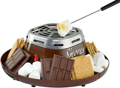 Nostalgia SMM200 Electric Stainless Steel Smores Maker with 4 Compartment Trays