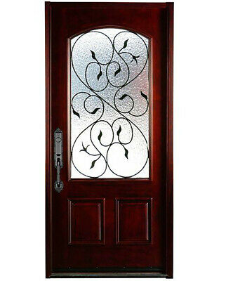 """External Front Door With Glass Exterior Spainish Single Entry Pre-hung 36""""×80"""""""
