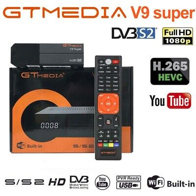 GTMEDIA V9 Super Full H.265 DVB-S2 TV Satellite Receiver Receptor Buit-in WIFI