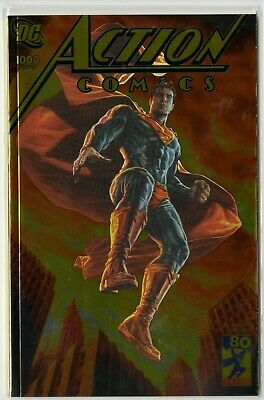 Action Comics #1000  RARE SOLD OUT Gold Foil Convention Variant by Lee Bermejo!