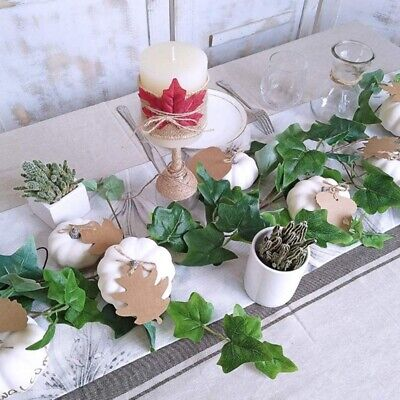 12 PCS Assorted Sizes Rustic Harvest White Artificial Pumpkins For O9R5