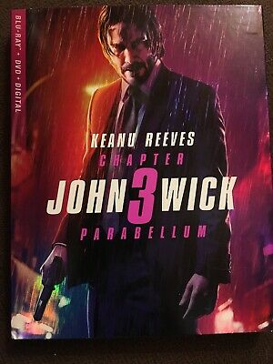 John Wick Chapter 3 Parabellum (Blu Ray, DVD, Case and Cover) NO DIGITAL COPY