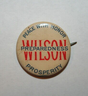 1912 Woodrow Wilson President Campaign Button Political Pinback Pin Election