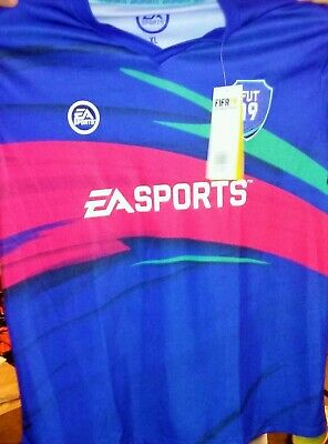 FIFA '19 Ultimate Team Soccer Jersey Mens Sewn Patch EA SPORTS Video Game XL
