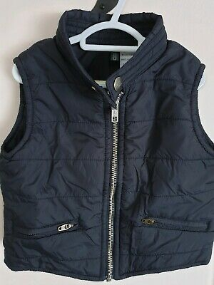Fred baby boys navy blue vest, size 1 IMMACULATE